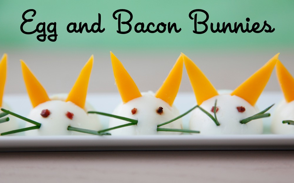 Egg and Bacon Bunnies from Weelicious