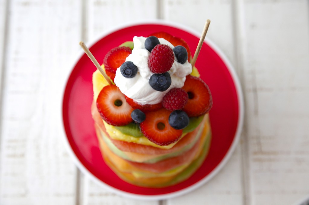 Fruit Tower Birthday Cake Image Inspiration of Cake and Birthday