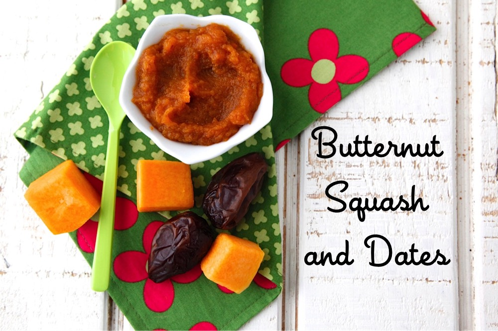 Butternut Squash and Date Puree Baby Food from Weelicious
