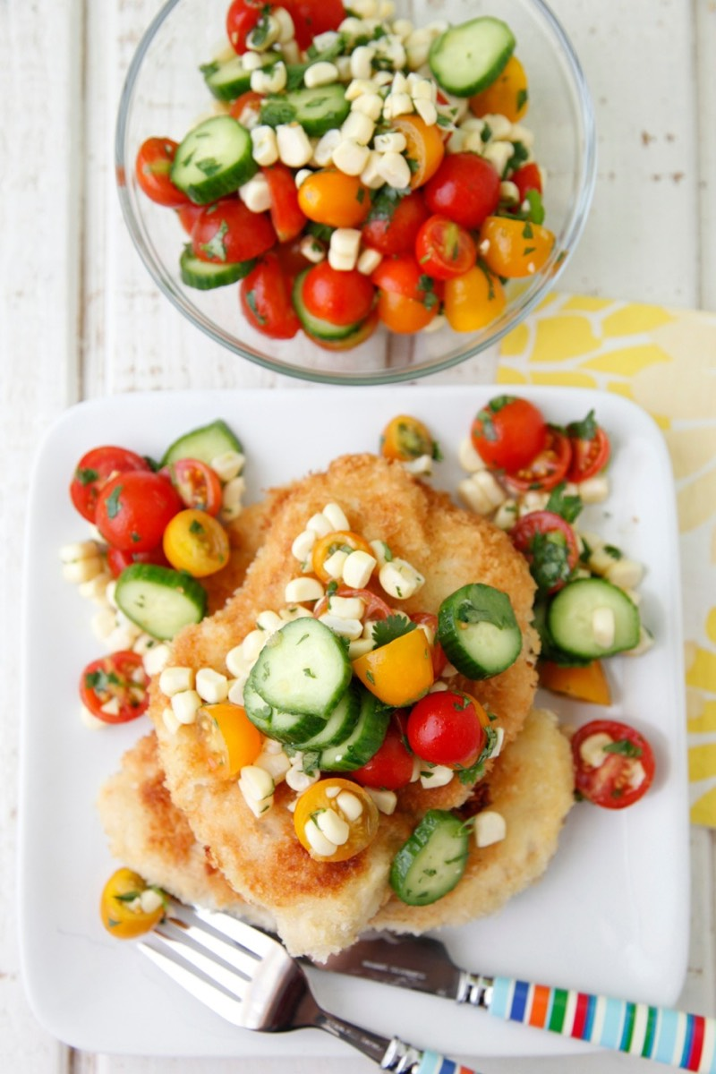 Chicken Paillard with Summer Salad 5