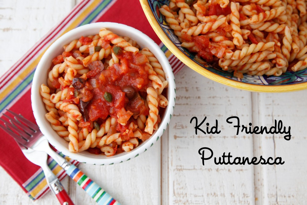 Kid Friendly Puttanesca from Weelicious