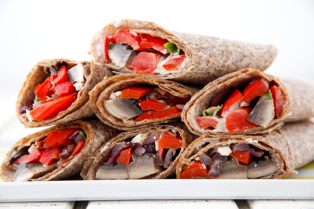 With a light, tangy and healthy sauce inside, these wraps are a simple ...