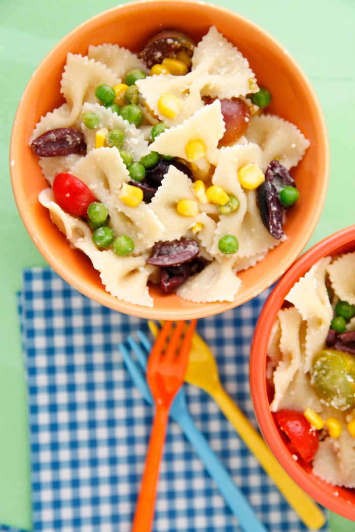 Summer Succotash Pasta Salad from Weelicious