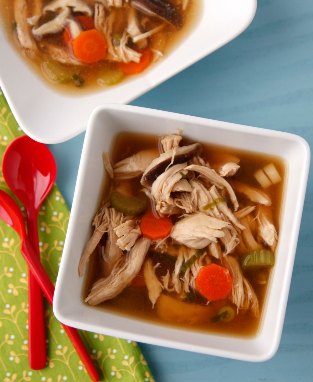Asian Chicken Soup video from Weelicious