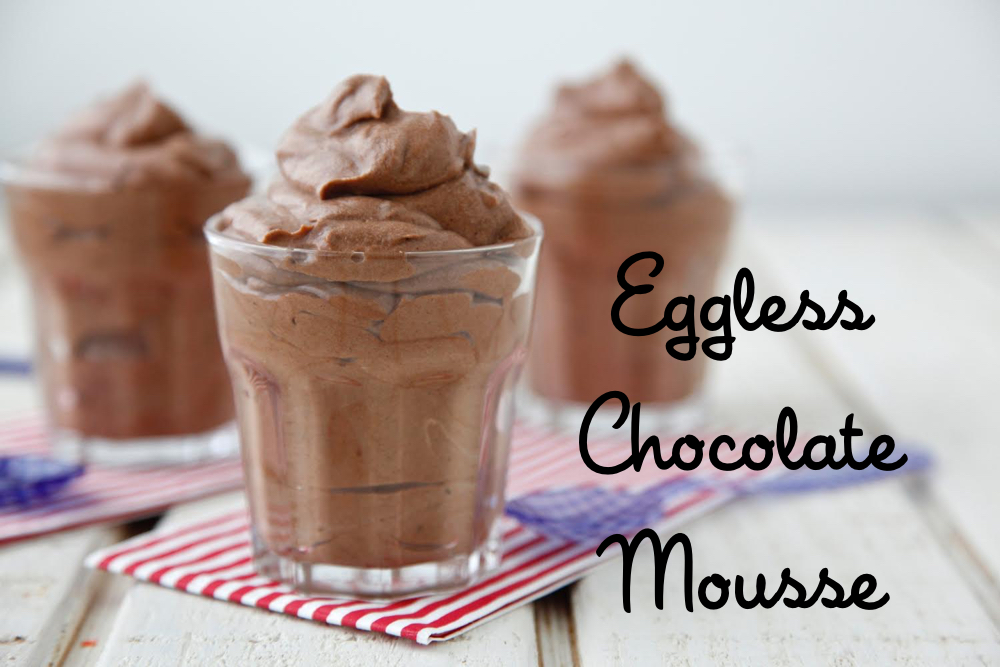 Eggless Chocolate Mousse (makes 4 servings)