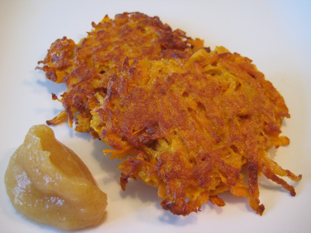 Sweet Potato Latkes from Weelicious