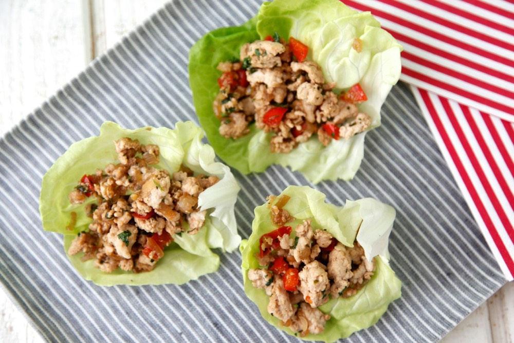 Stir-Fried Turkey In Lettuce Cups This recipe calls for ground chicken ...
