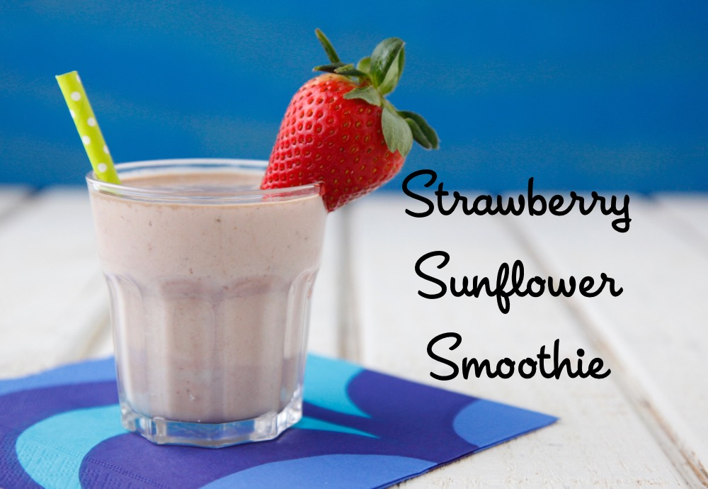 Strawberry Sunflower Smoothie from weelicious.com