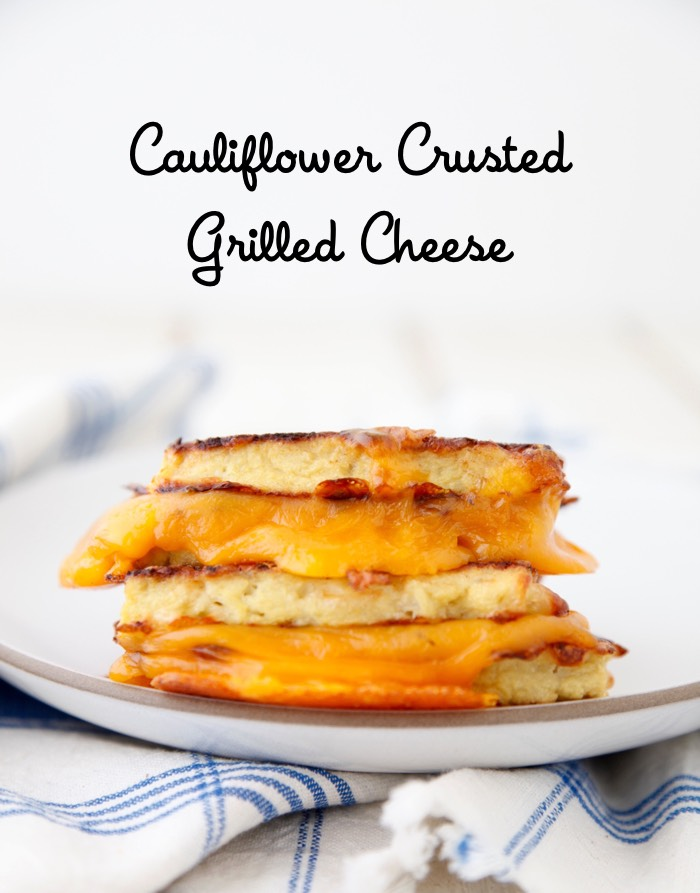 Cauliflower Crusted Grilled Cheese from weelicious.com