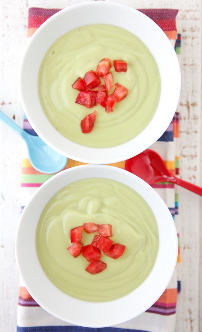 Chilled Avocado Soup from weelicious.com
