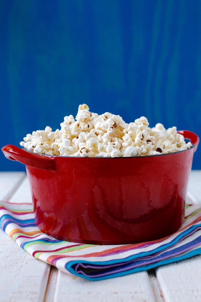 Cheesy Coconut Popcorn from weelicious.com