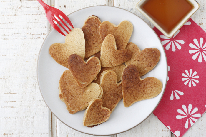 Heart Shaped Pancakes recipe from weelicious.com