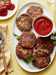 Spinach and Roasted Red Pepper Tofu Croquettes