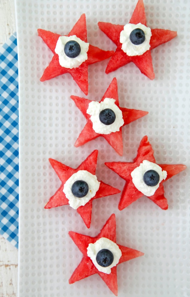 Watermelon Star Bites recipe from weelicious.com