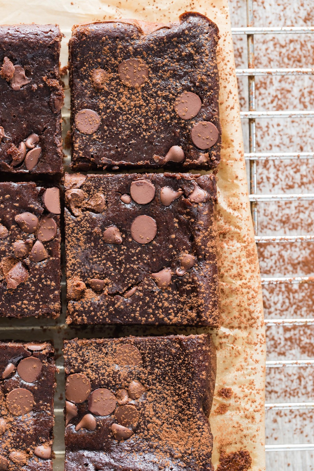 Gluten Free Double Chocolate Black Bean Brownies from weelicious.com