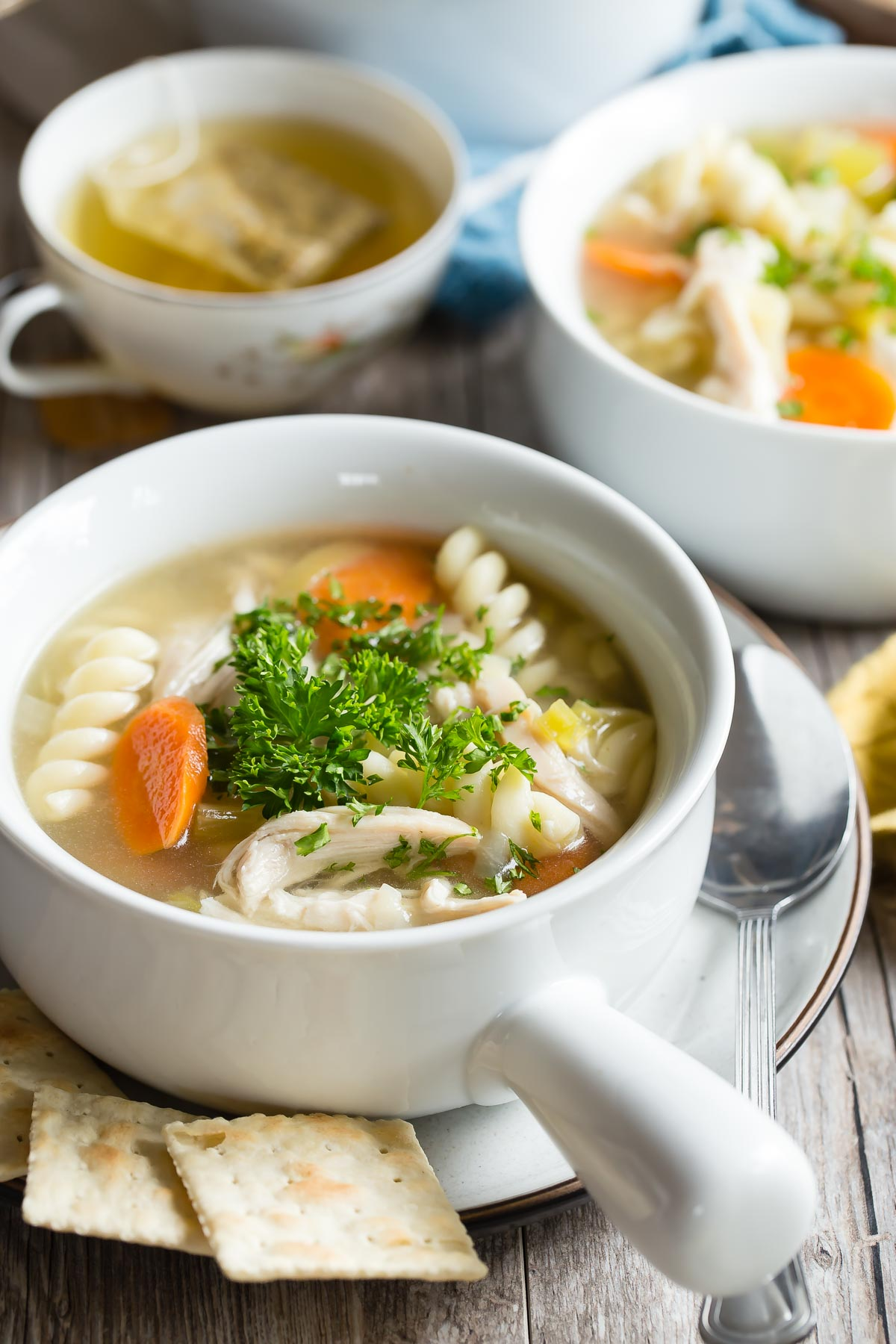 Slow Cooker Chicken Noodle Soup from weelicious.com
