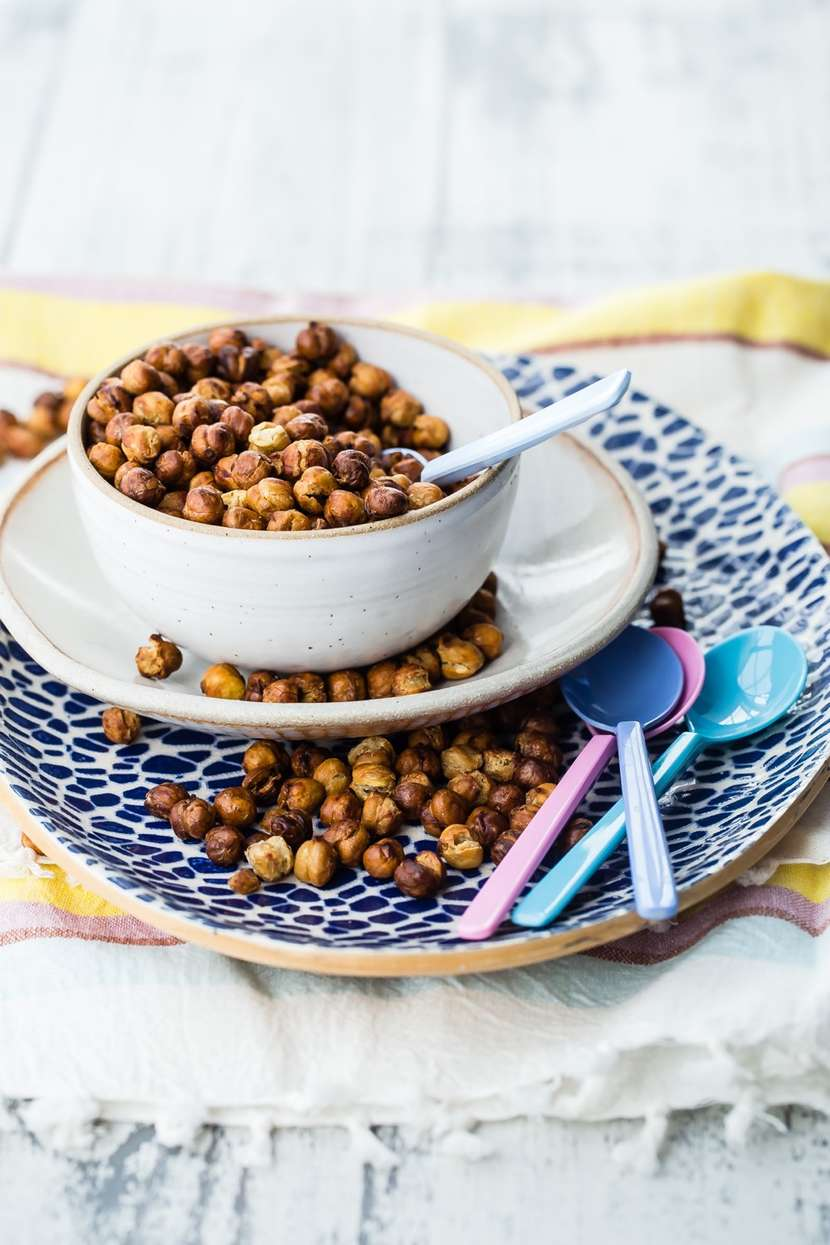 Air Fryer Crispy Chickpeas from Weelicious.com