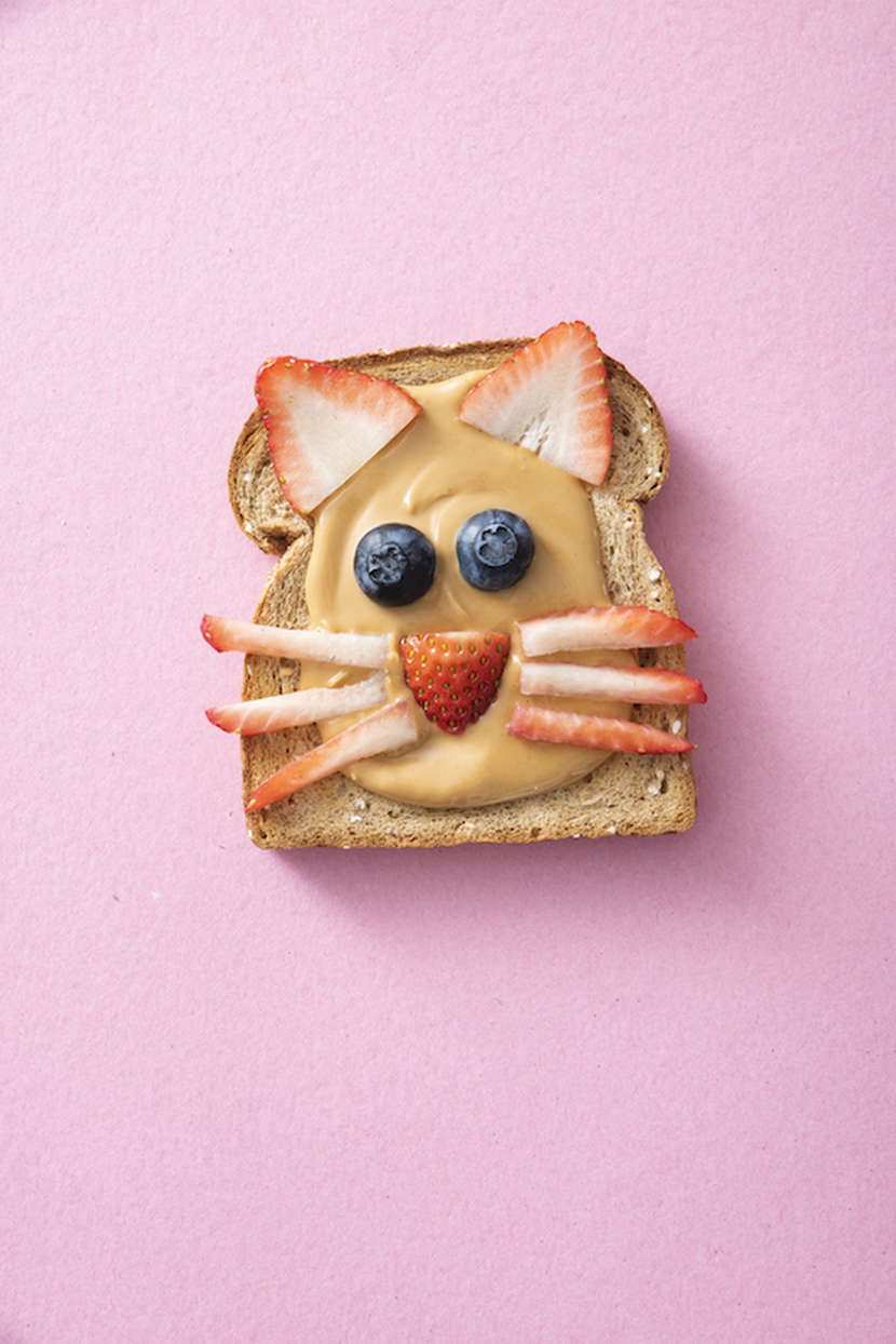 Animal Face Toast from Weelicious.com