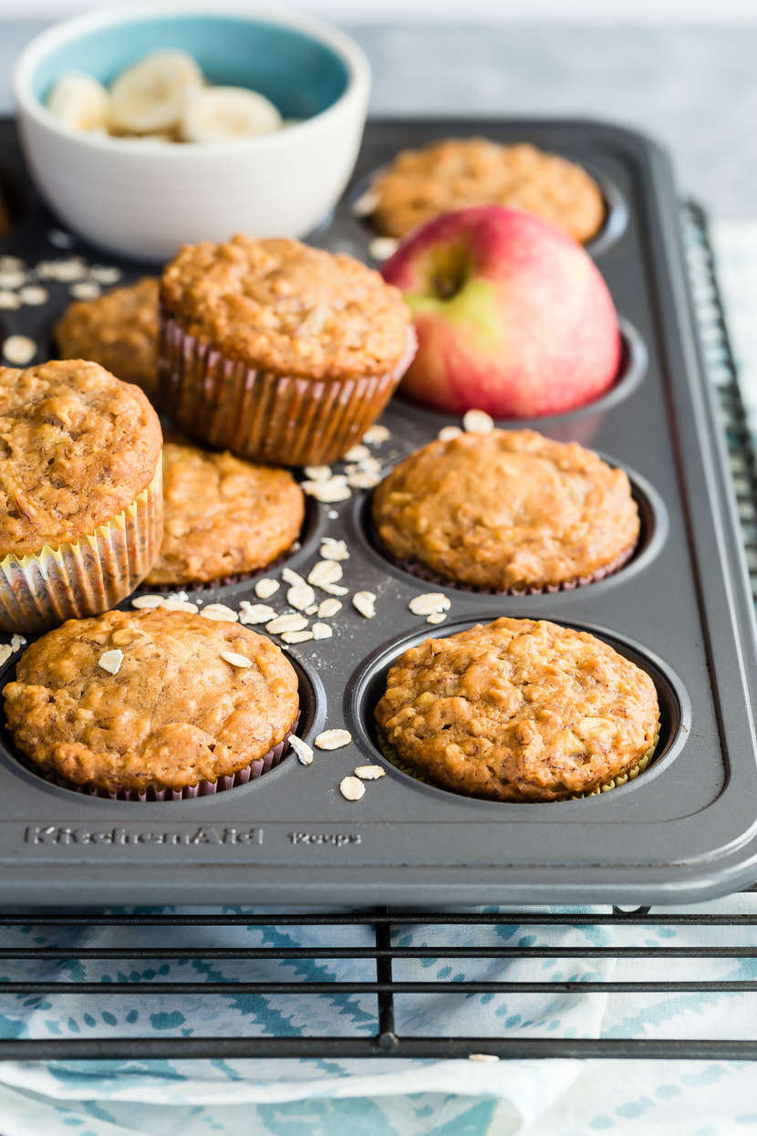 Apple Banana Muffins from Weelicious.com