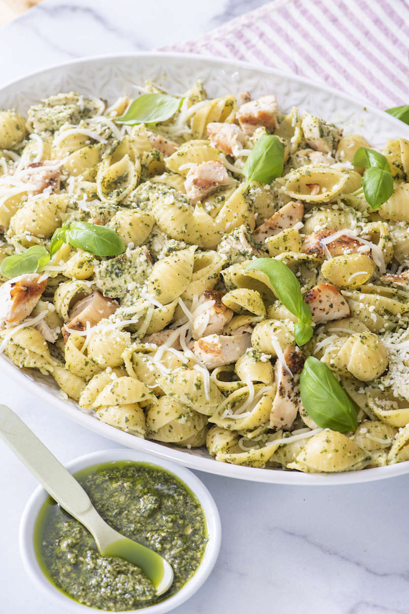 Chicken Pesto Pasta Weelicious
