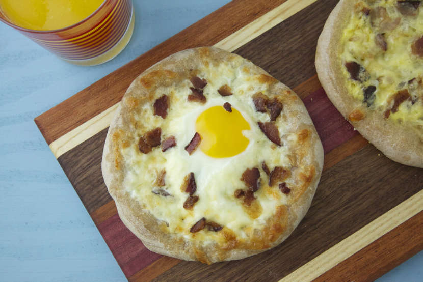 Breakfast Pizza from weelicious.com