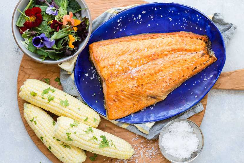 Simple Broiled Salmon from Weelicious.com