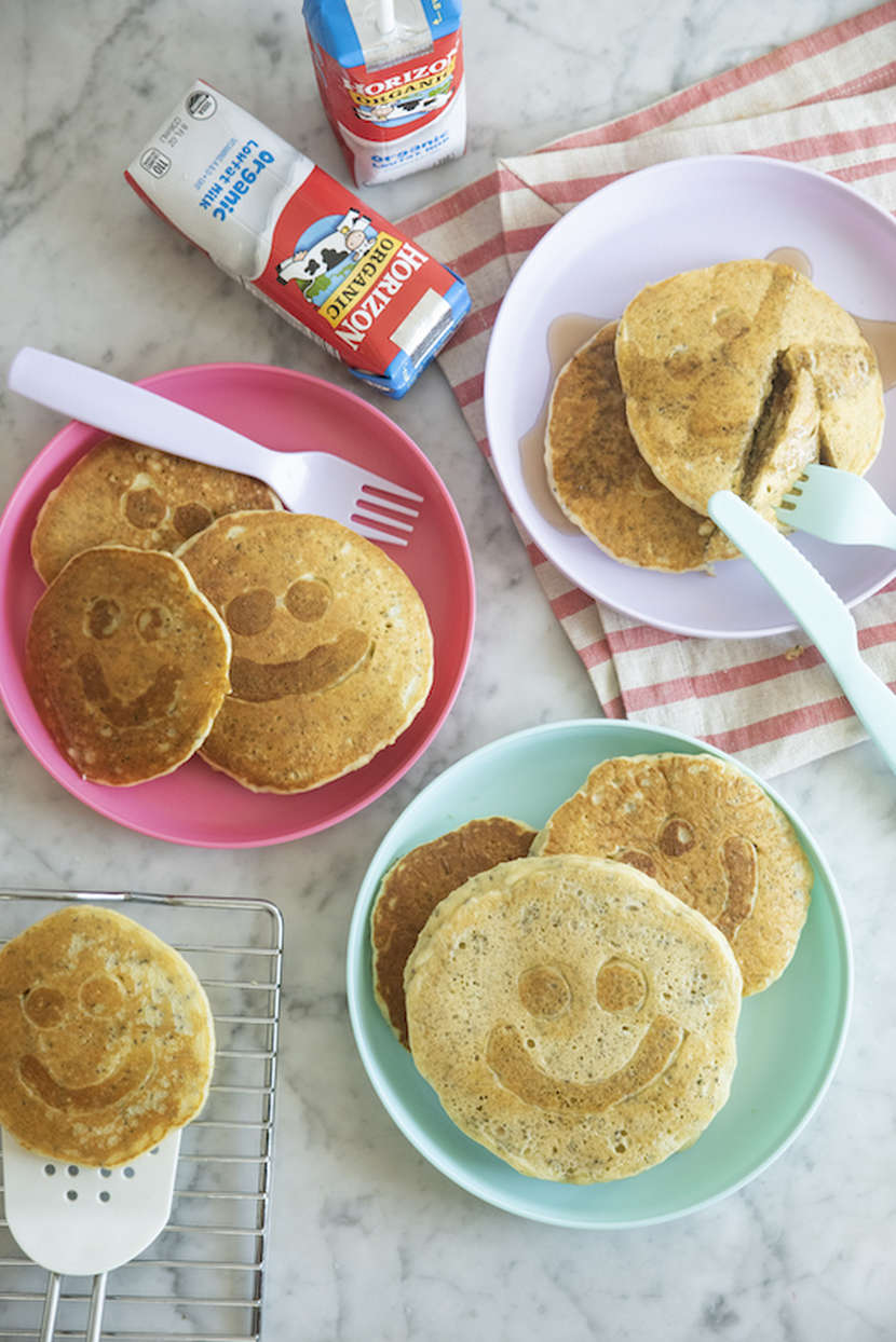 Smiley Face Protein Pancakes from Weelicious.com