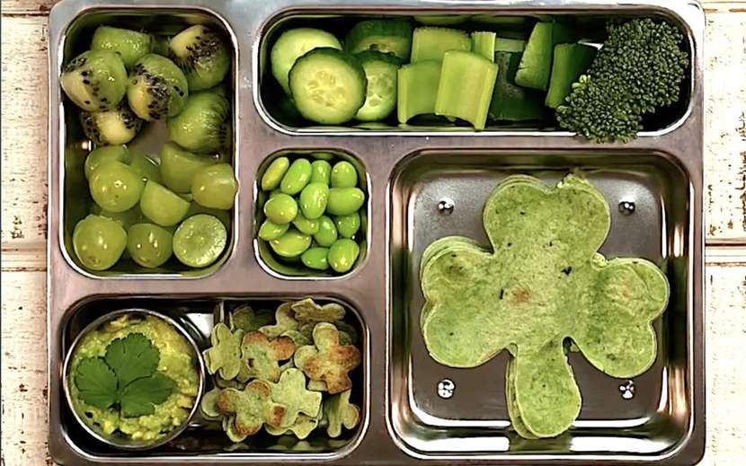 St. Patrick's Day School Lunch from Weelicious.com