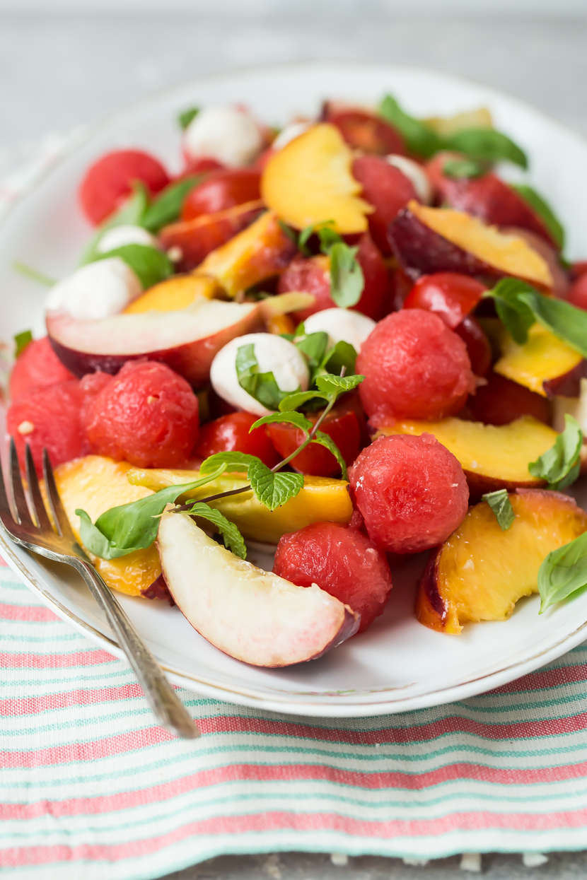 Summer Fruit and Mozzarella Salad from Weelicious.com