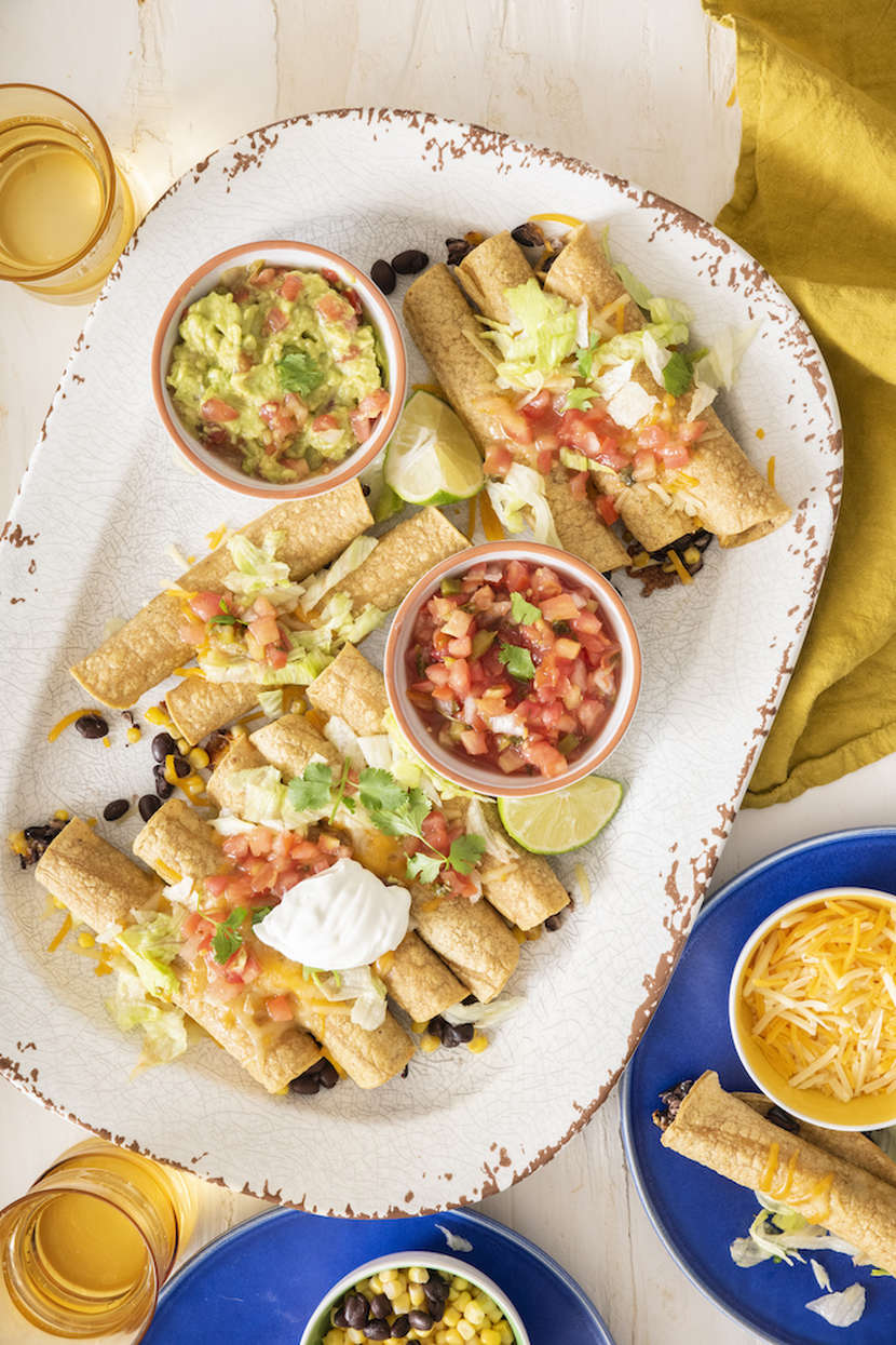 Vegetarian Baked Taquitos | Weelicious