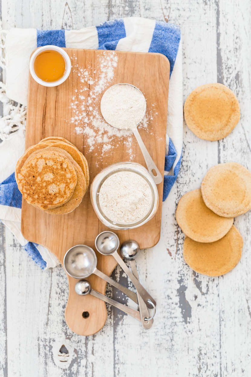 Whole Wheat Pancake and Waffle Mix from Weelicious.com