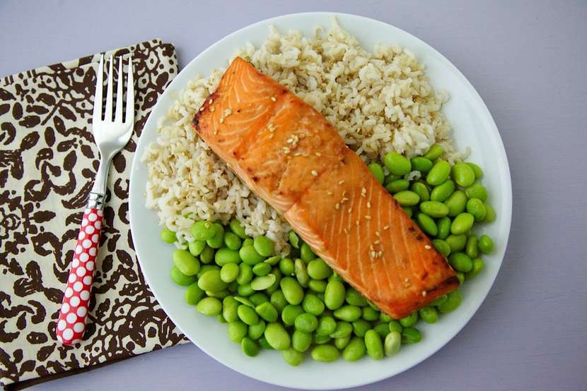 Sweet Broiled Salmon recipe from weelicious.com