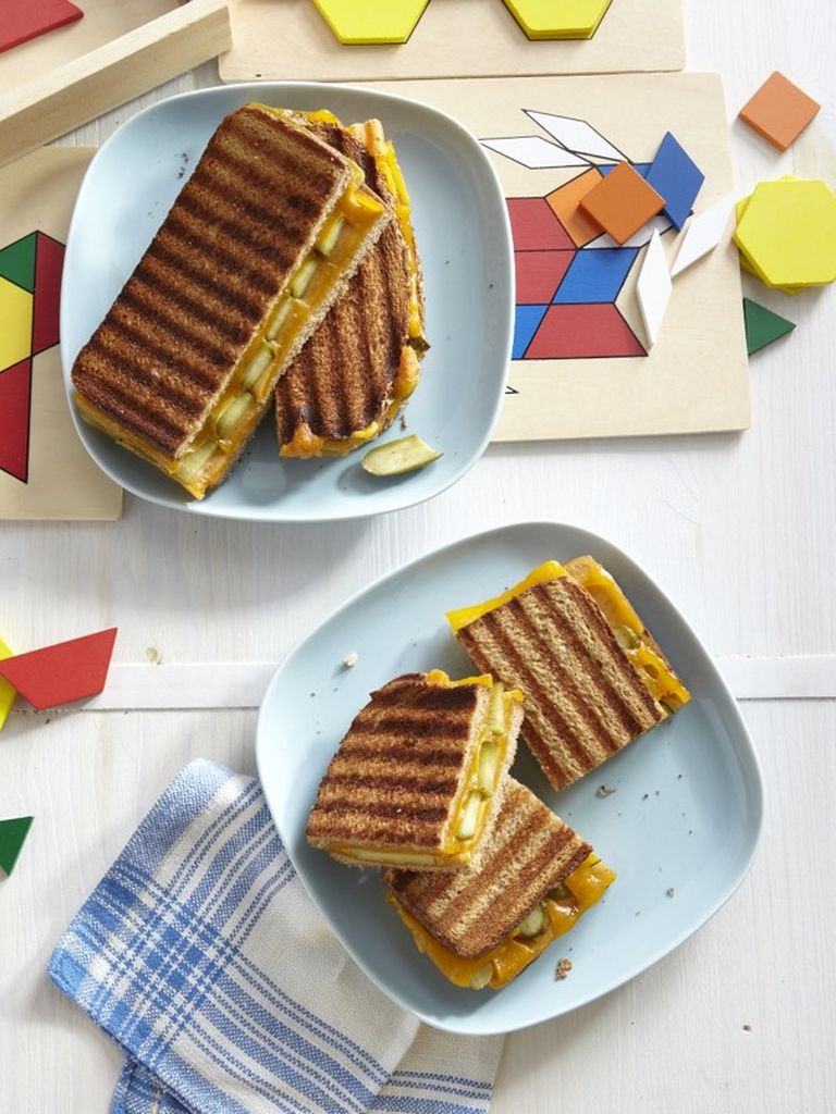 Grilled Cheese and Pickle Panini | Weelicious