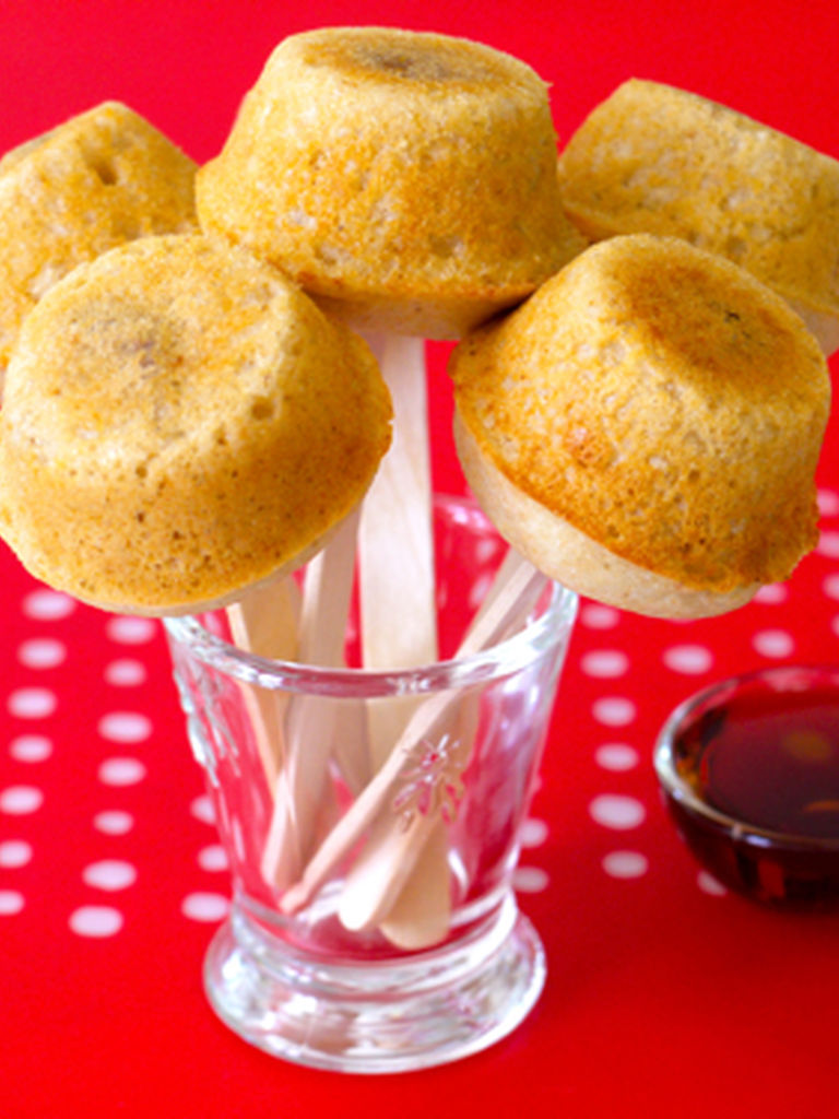 Pancake sausage muffins on a stick weelicious accompaniments ccuart Gallery