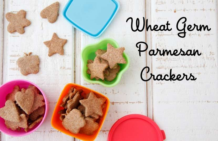 Wheat Germ Parmesan Crackers from Weelicious