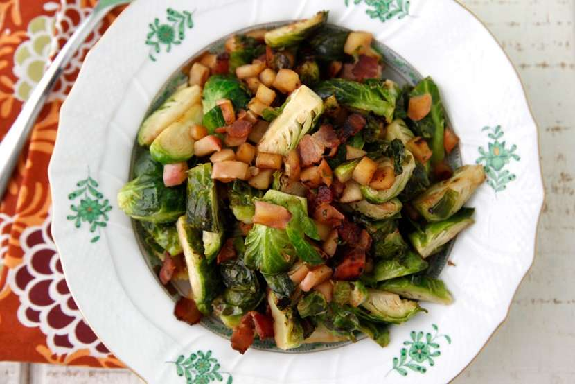 Sauteed Brussels Sprouts with Bacon 2