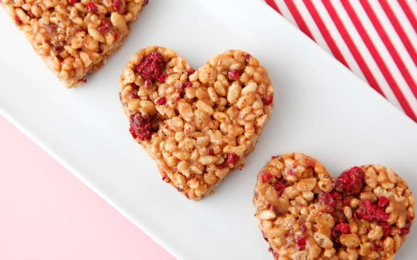 Heart Crispy Treats from Weelicious