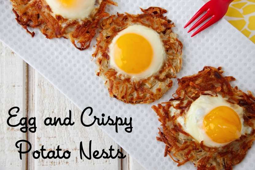Egg and Crispy Potato Nests from Weelicious