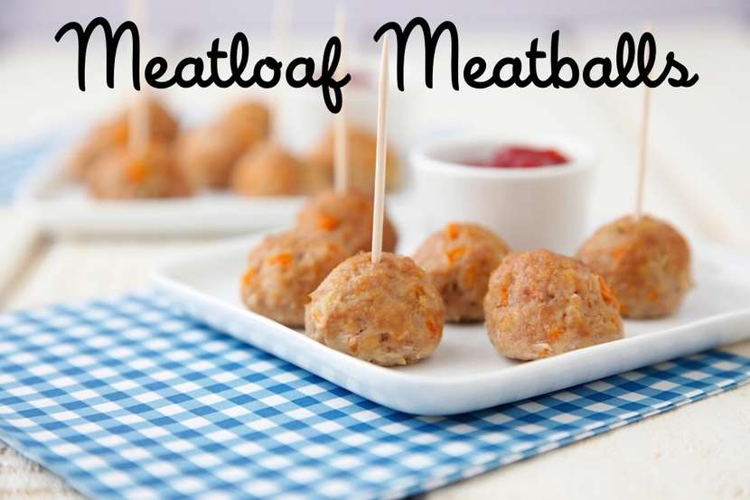 Meatloaf Meatballs from Weelicious