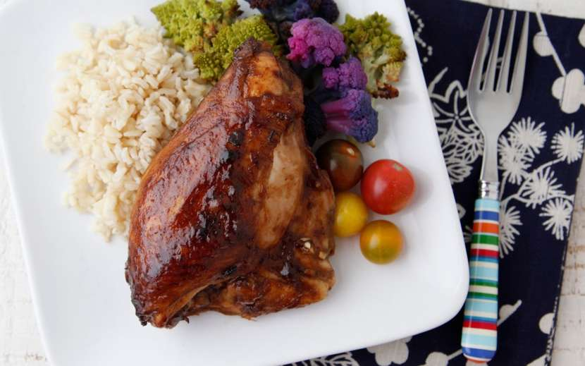 Sweet Balsamic Glazed Chicken from Weelicious