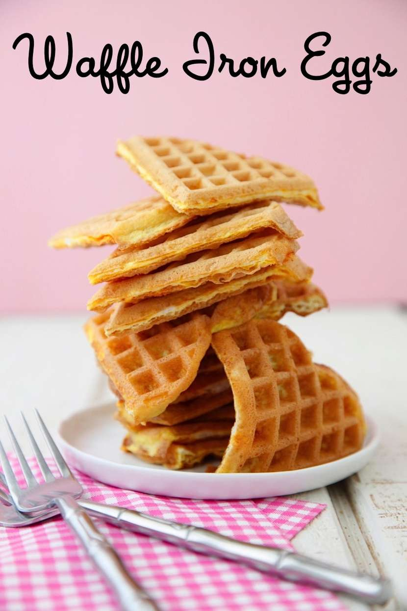 Waffle Iron Eggs from Weelicious