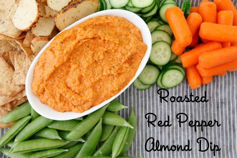 Roasted Red Pepper Almond Dip from Weelicious