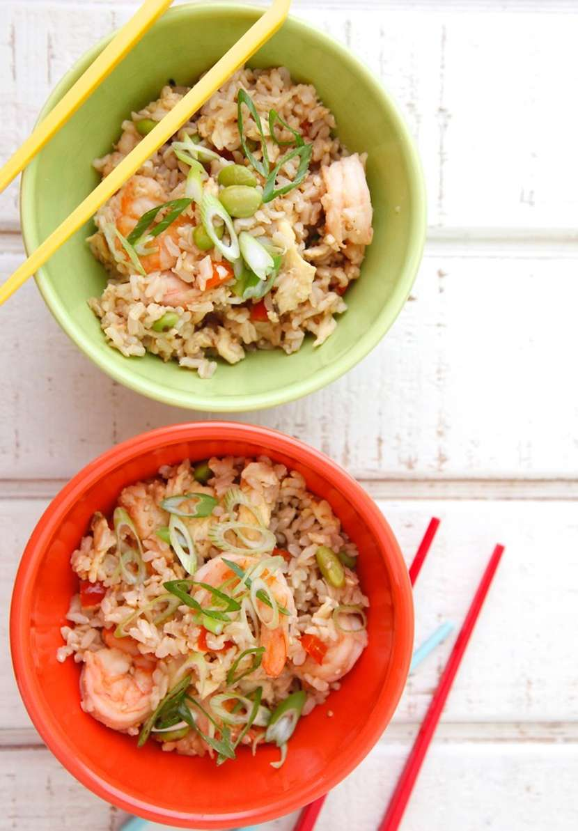 Shrimp Un-Fried Rice from Weelicious