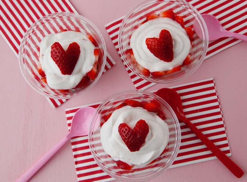 Berry Heart Parfaits from Weelicious