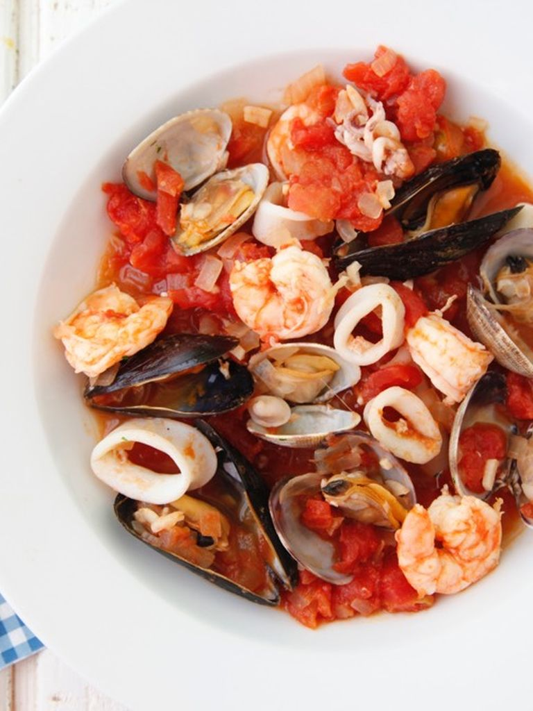 Seafood stew weelicious for Recipe for seafood stew
