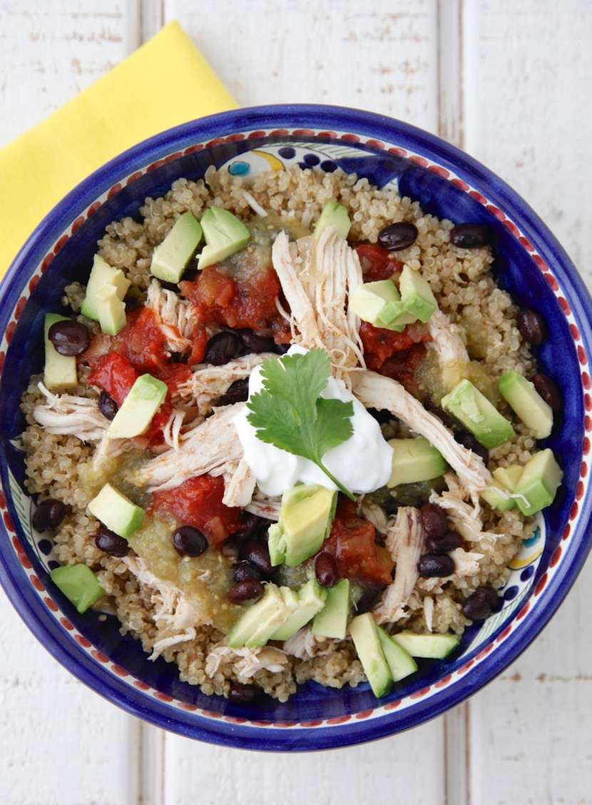 Slow Cooker Chicken Burrito Bowls from Weelicious