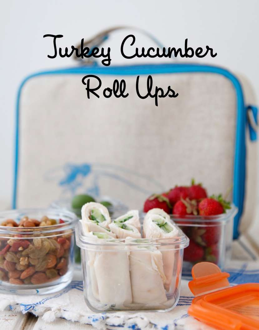 Turkey Cucumber Roll Ups from weelicious.com