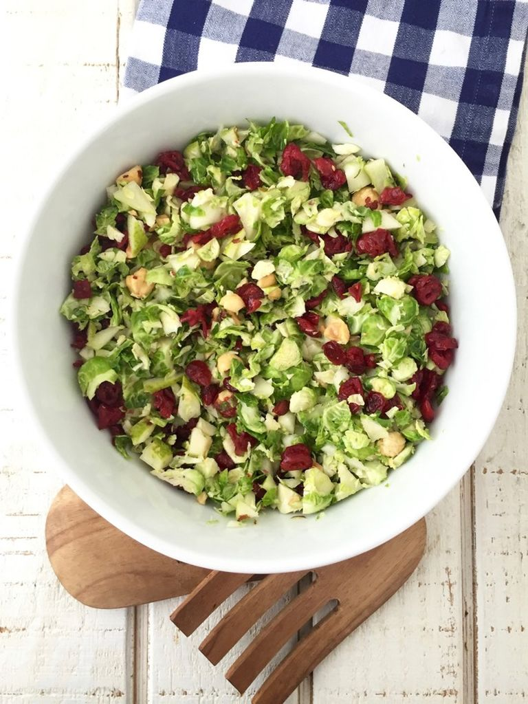 Chopped Brussels Sprouts Salad Weelicious