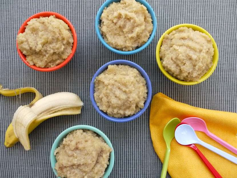 Banana Quinoa Rice Pudding from weelicious.com