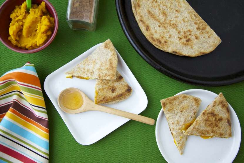 Sweet Pumpkin Quesadillas from weelicious.com
